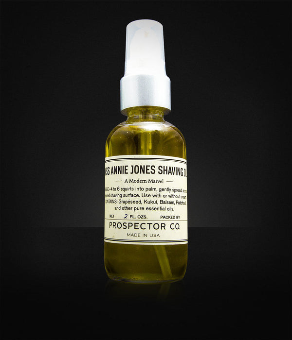 Prospector Co. - Miss Annie Jones Shaving Oil-397