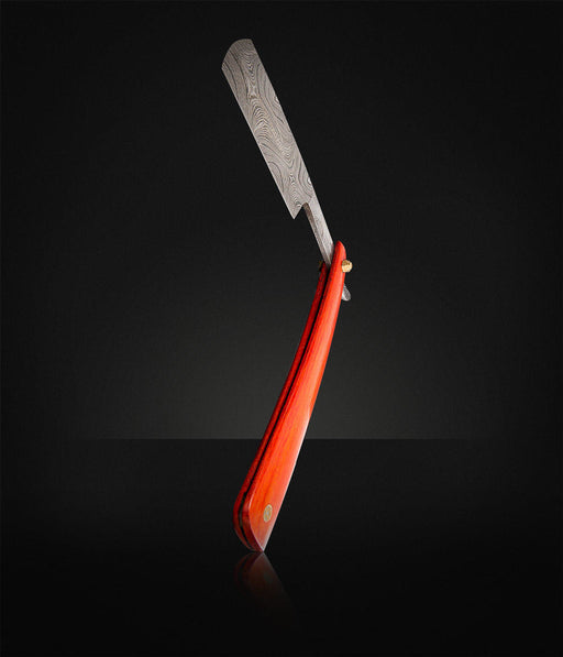 "Beard Brother - Barberkniv ""Red Damascus""-734"
