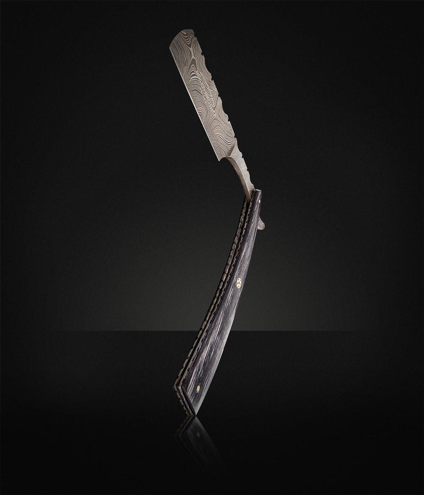 "Beard Brother - Barberkniv ""Damascus""-733"