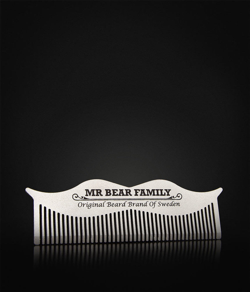 Mr. Bear Family - Beard Comb Steel-683