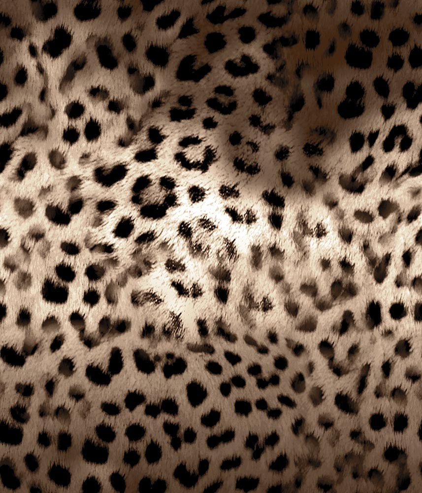 Animal Large Leopard Faux Fur Sepia P