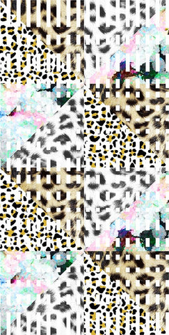 Animal Large Leopard Geo Fur Angles Neutral P