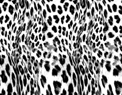 Animal Large Leopard Wave Black/White P