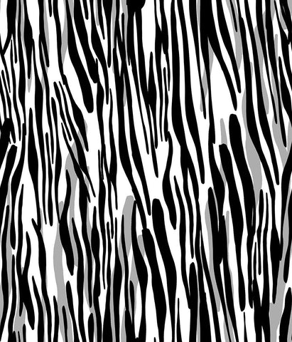 Animal Medium Stripe Zebra Moving Herd Black/White P