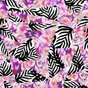 Animal Medium Zebra Geo Floral Ikat Pink/Black/White