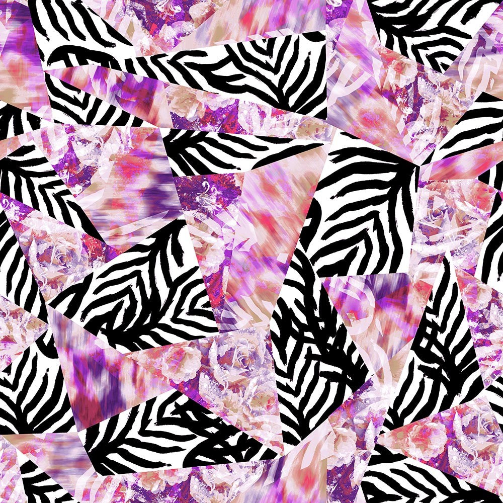 Animal Medium Zebra Geo Floral Ikat Pink/Black/White P