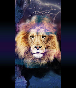 Animal Placement Lion Majesty Blue P
