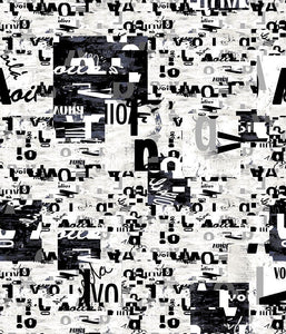 Conversational Medium Geo Alphabet Black/White P