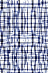 Ethnic Medium Plaid Ikat Cool Indigo P