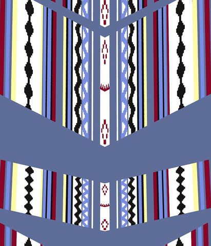 Ethnic Large Stripe Mod Navajo Blue P
