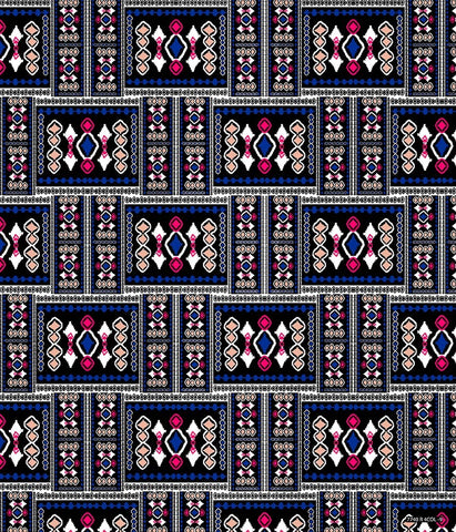 Ethnic Medium Geo Kilim Diamond Blue P