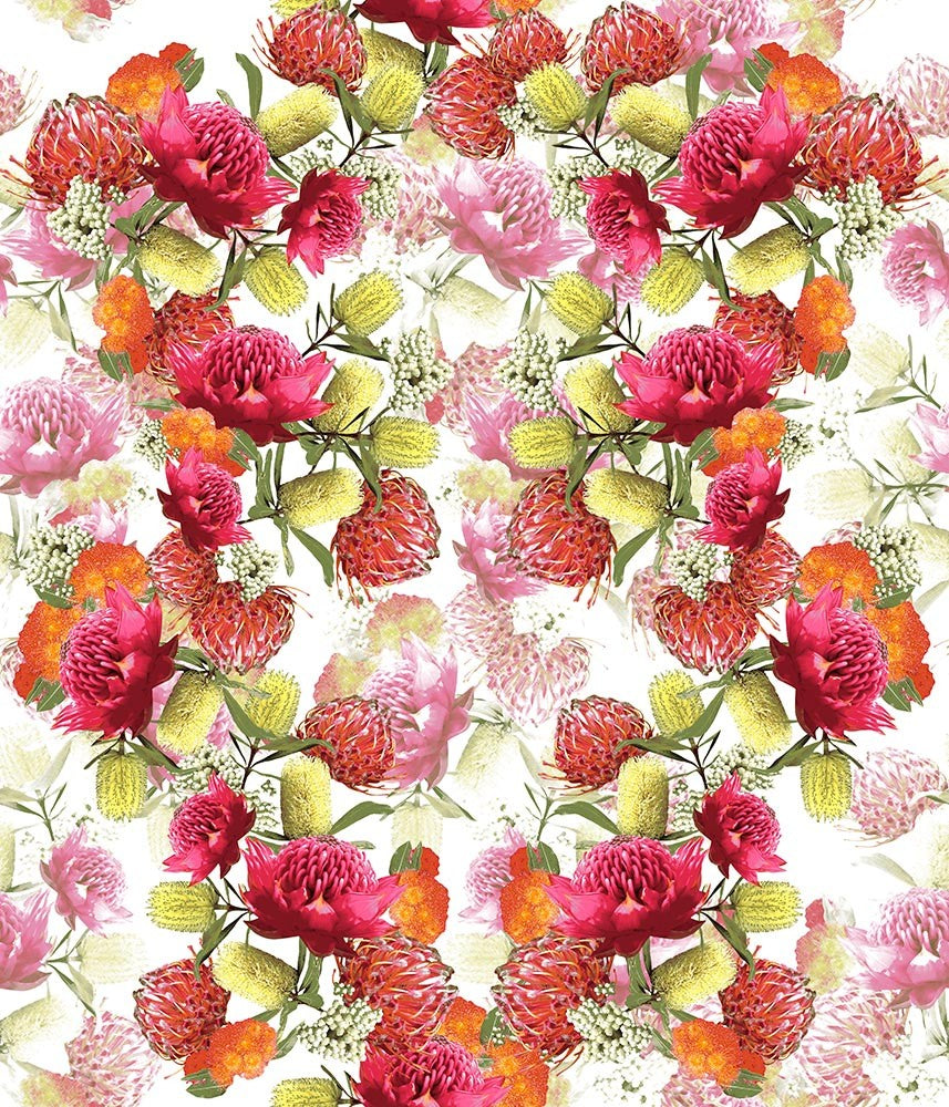 Floral Large Exotic Field Pink