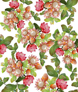 Floral Large Exotic Sprays Pink P