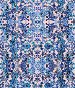 Paisley Small Soft Heart Blue P