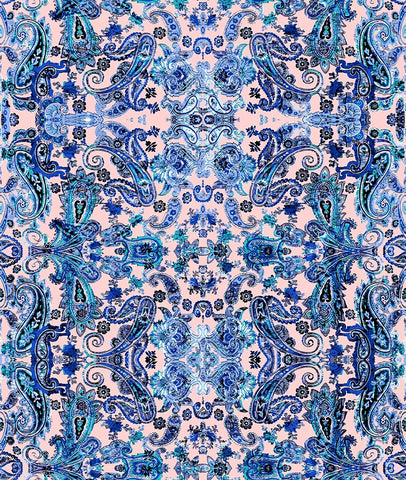 Paisley Small Soft Heart Blue