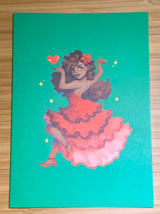 Dancer Card -- Set of 4
