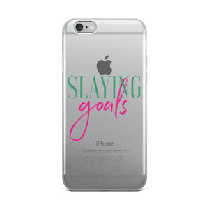 Slaying Goals iPhone Case
