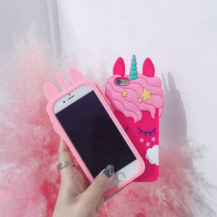 best service 9ae4e 2f501 Cute 3D Unicorn Phone Case