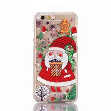 lovely glitter christmas phone case