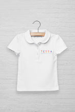 Girls Logo Short Sleeve Peterpan Polo