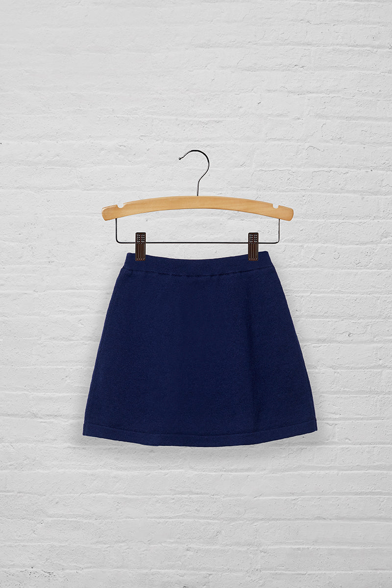 Girls Button Tab Sweater Skort
