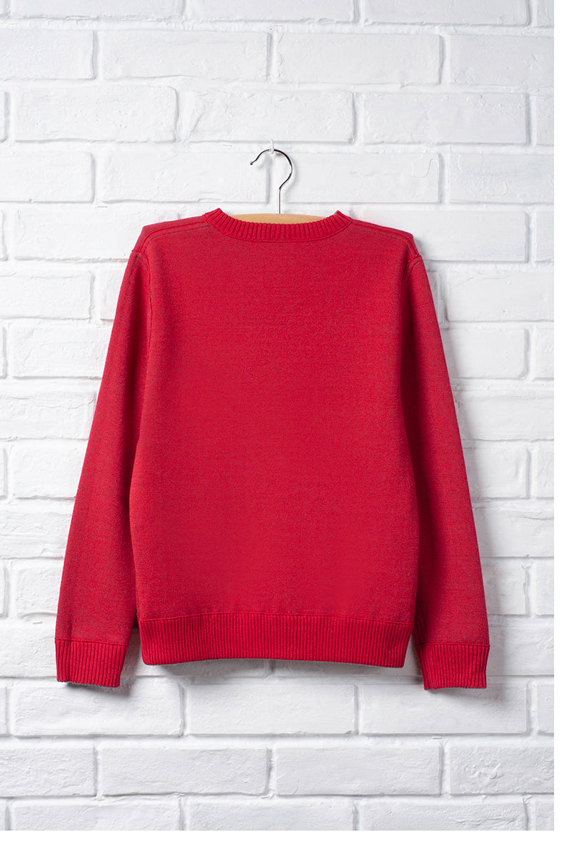 Girls Long Sleeve V-neck Sweater