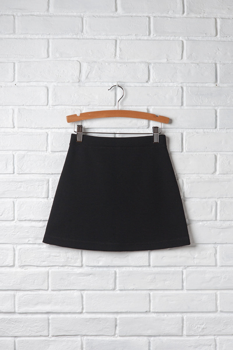Girls Knit Neoprene Skirt