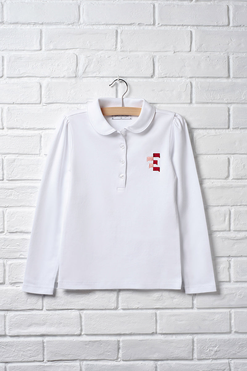 Long Sleeve Peter Pan Polo
