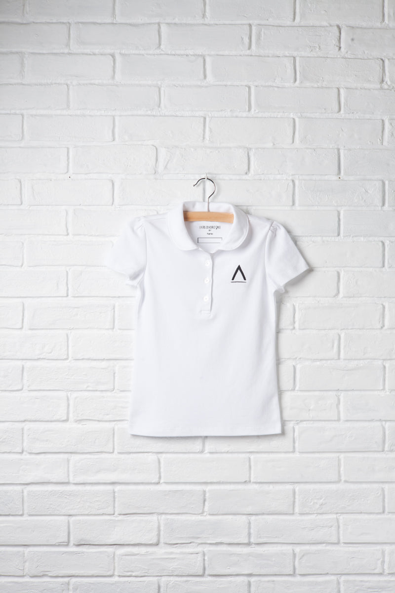 Girls Logo Short Sleeve Peter Pan Polo