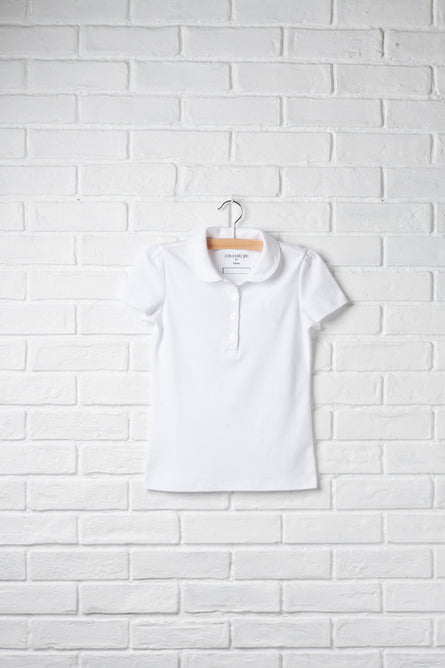Girls Short Sleeve Peter Pan Polo