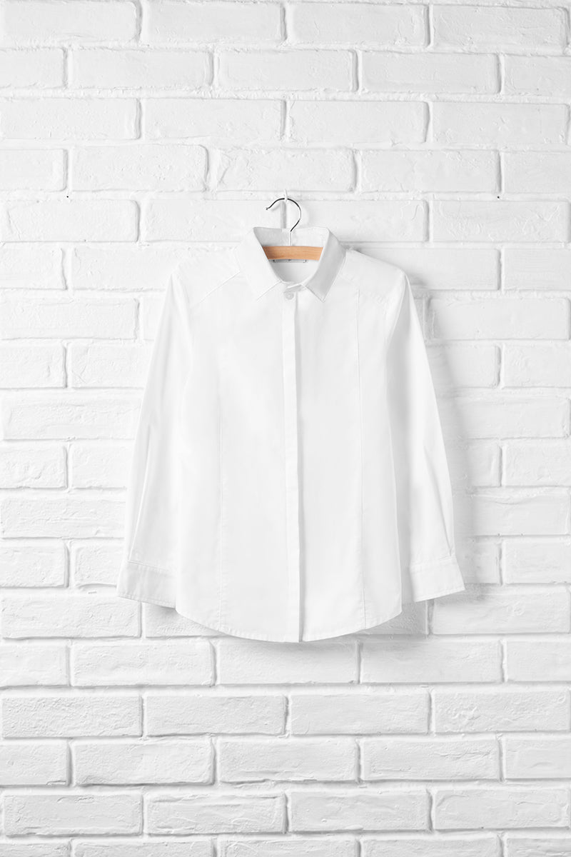 Feminine Long Sleeve Button Front Shirt