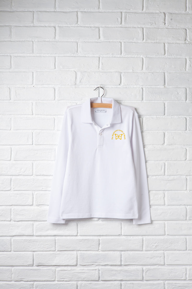 Unisex Long Sleeve Polo with Embroidery Logo