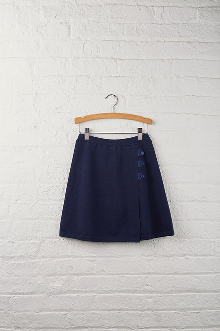 Girls Button Tab Sweater Skirt