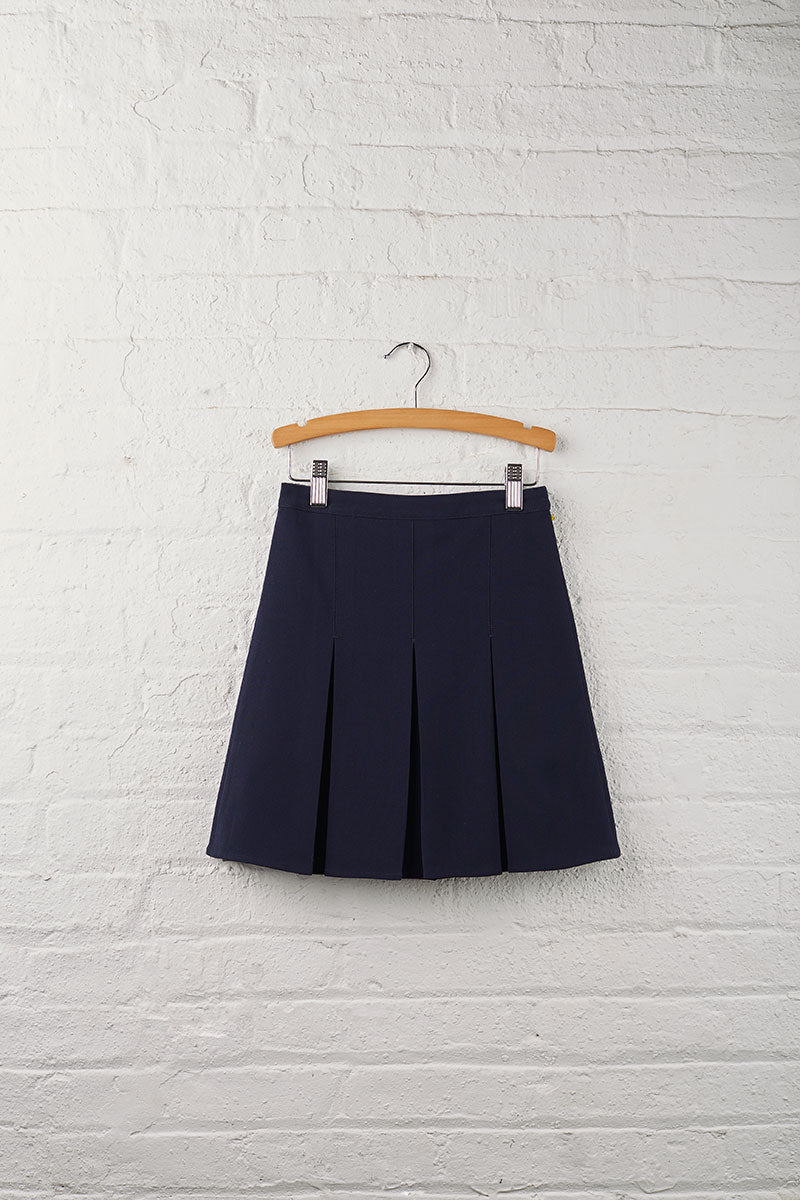School 2 Girls Reversible Pleat Skirt