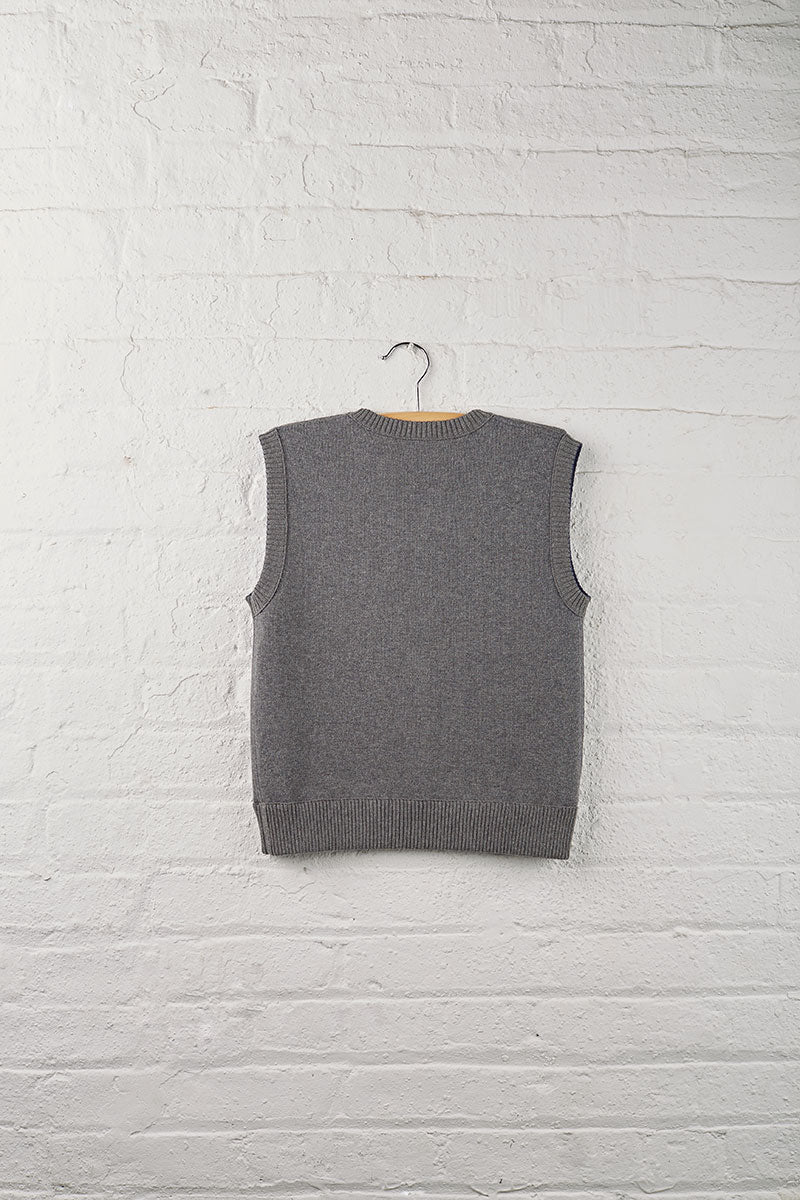 Boys Reversible V-Neck Sweater Vest