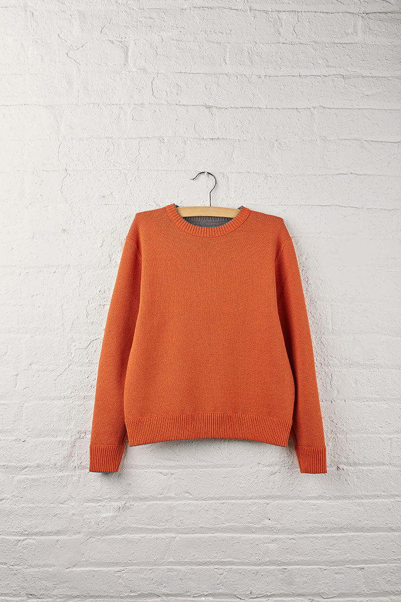 School 1 Boys Reversible Crew Neck Sweater