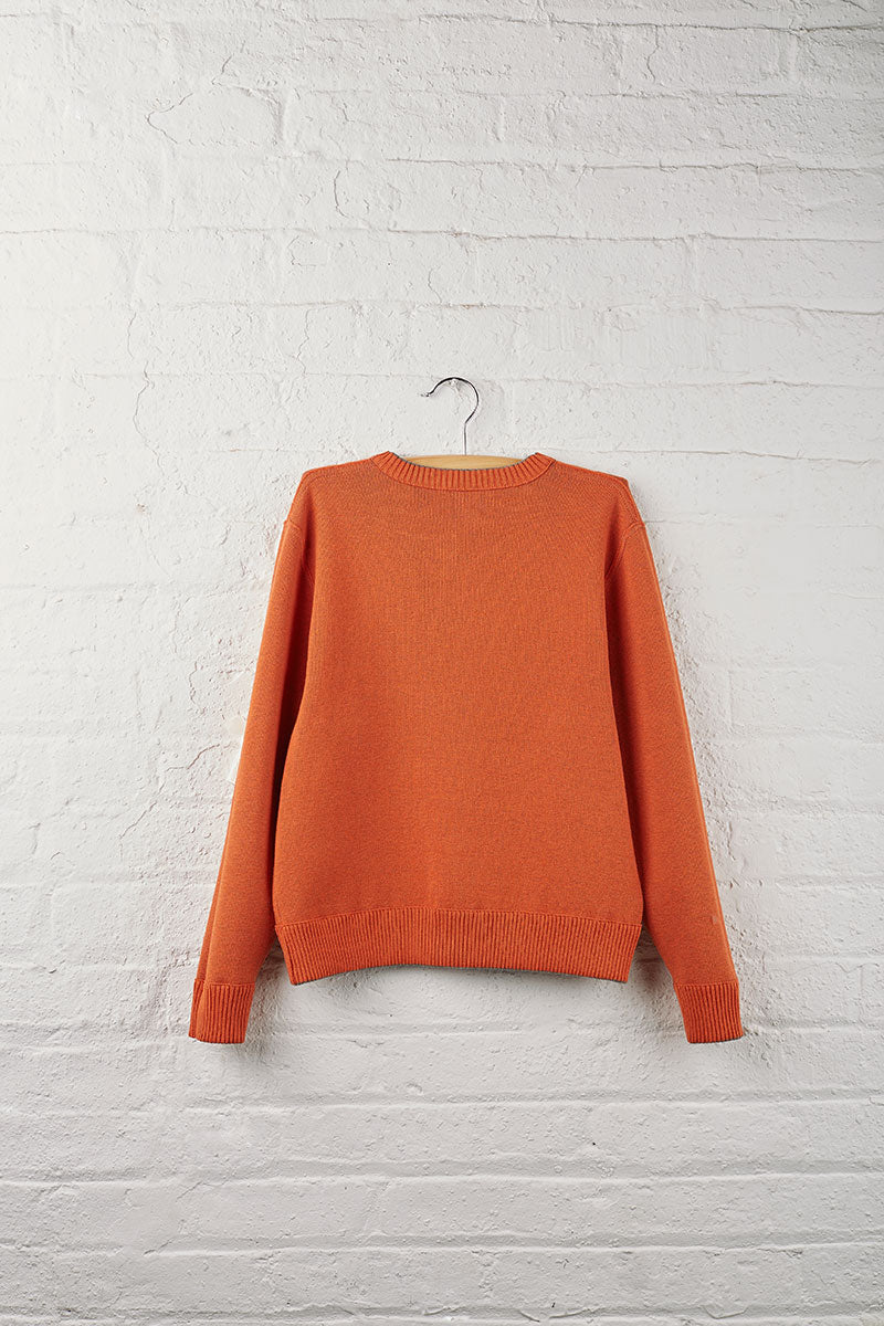 Boys Reversible Crew Neck Sweater