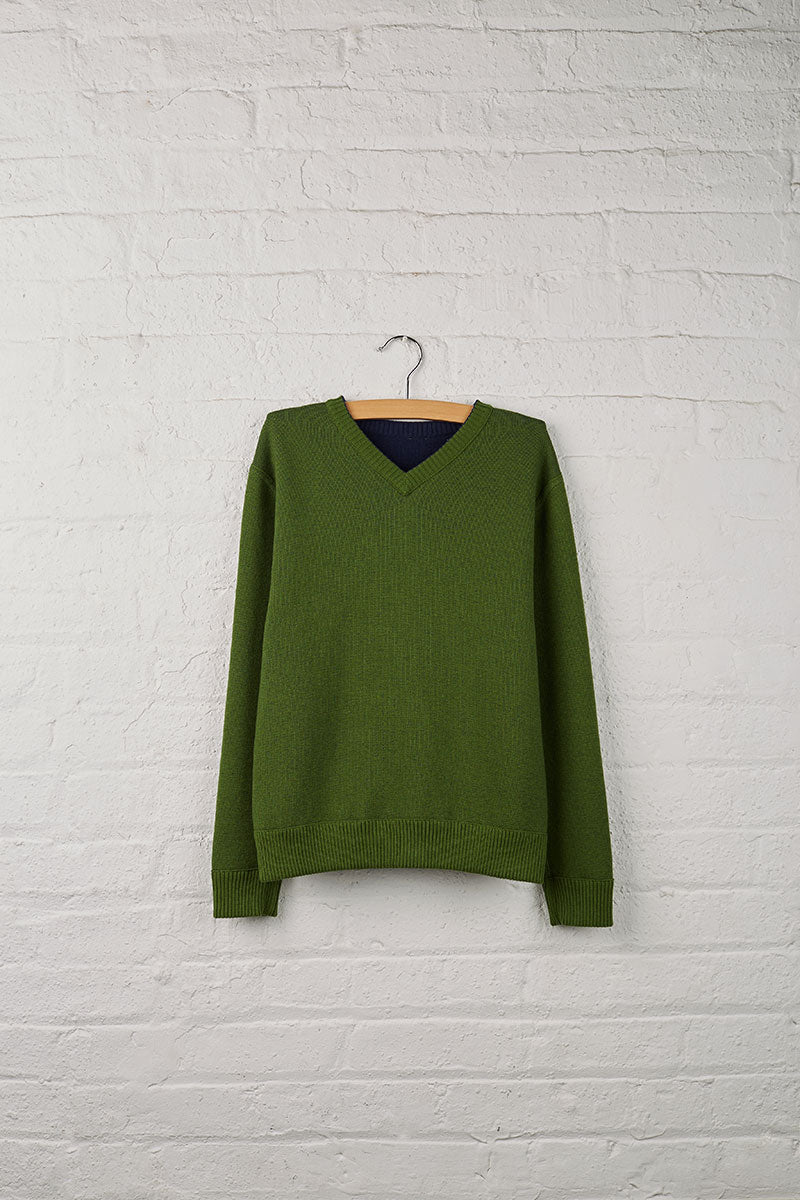 Boys Reversible V-Neck Sweater