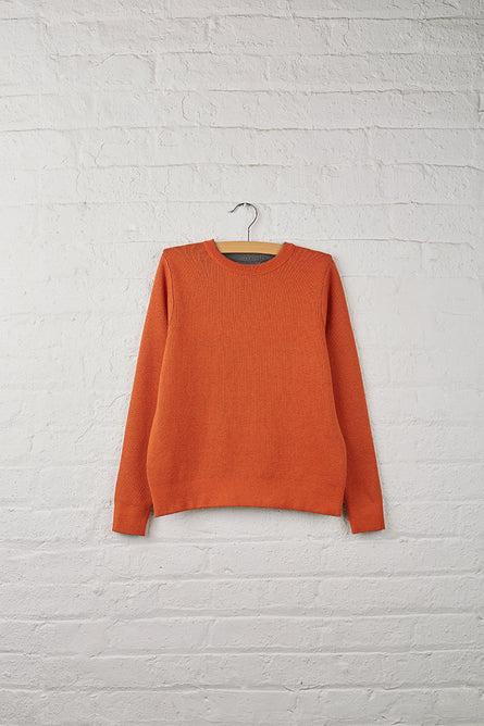 UH Girls Reversible Crew Neck Sweater MHG/Harvest Pumpkin