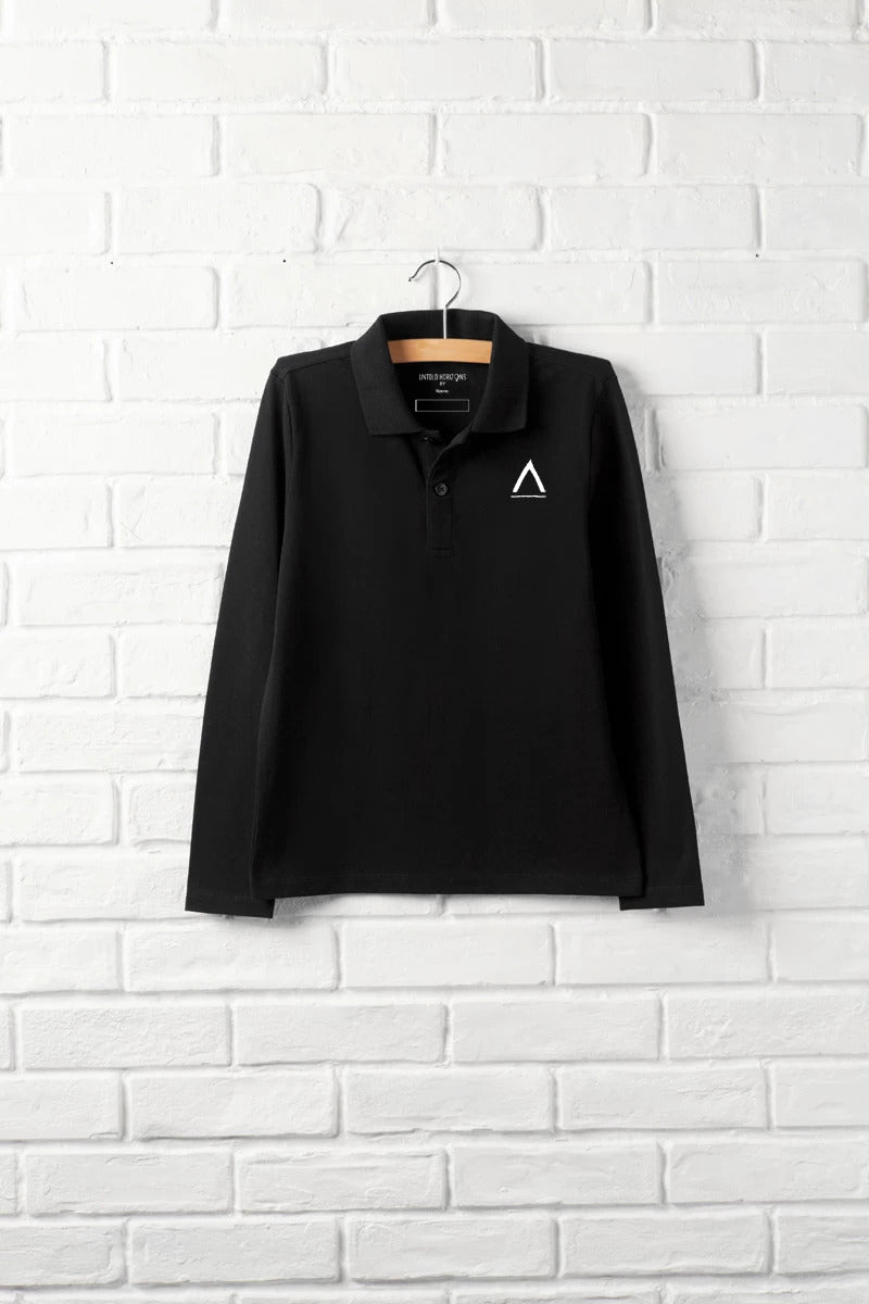Unisex Logo Long Sleeve Polo