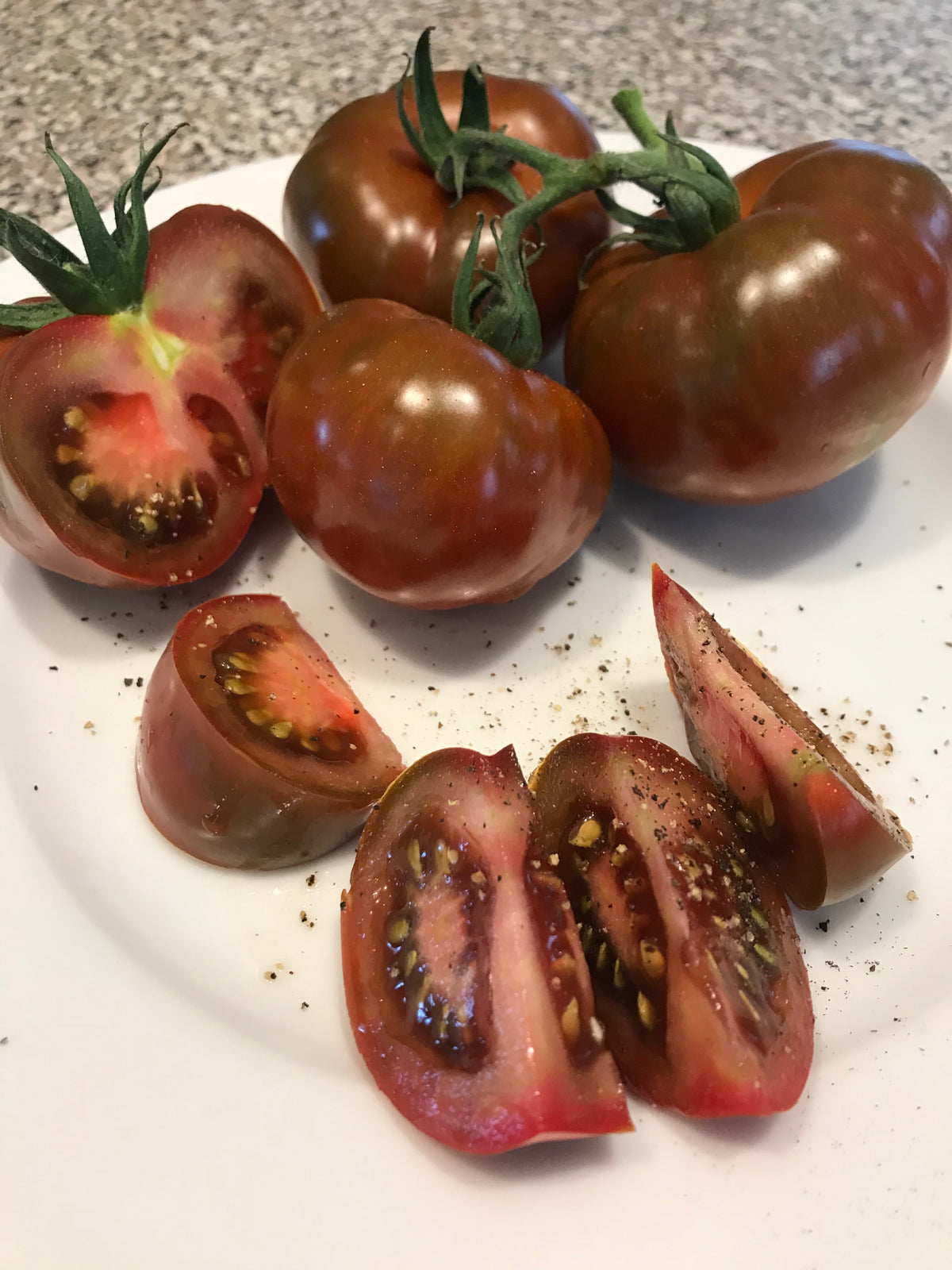 Black Velvet tomatoes, heirloom variety, 1.5 lbs (680 grams)