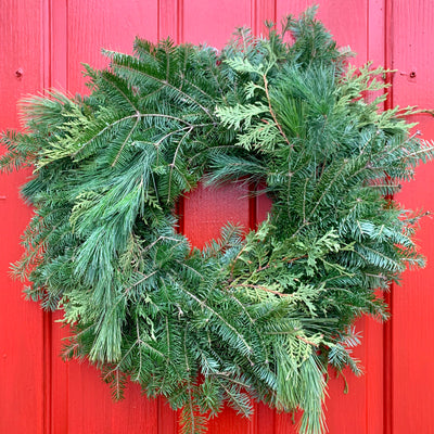 Large Balsam Mixed Wreath (Undecorated)