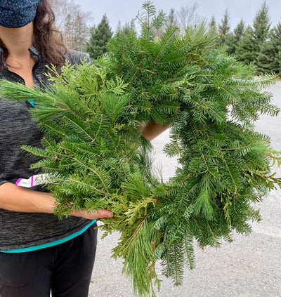 Small Mixed Evergreen Wreath (Undecorated)