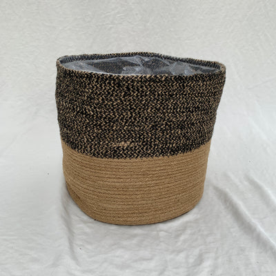 Black Jute Basket, 12-inch