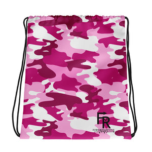 ForwardRevive Pink Camo Drawstring bag