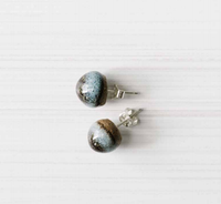 WOODFOLK Acorn Studs - Ink