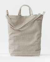 BAGGU Canvas Tote Bag - Natural Grid