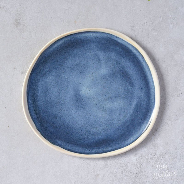 KIM WALLACE Pebble Plate - Bread Plate - Stormy Blue
