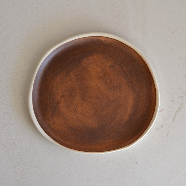 KIM WALLACE Pebble Plate - Bread Plate - Rust