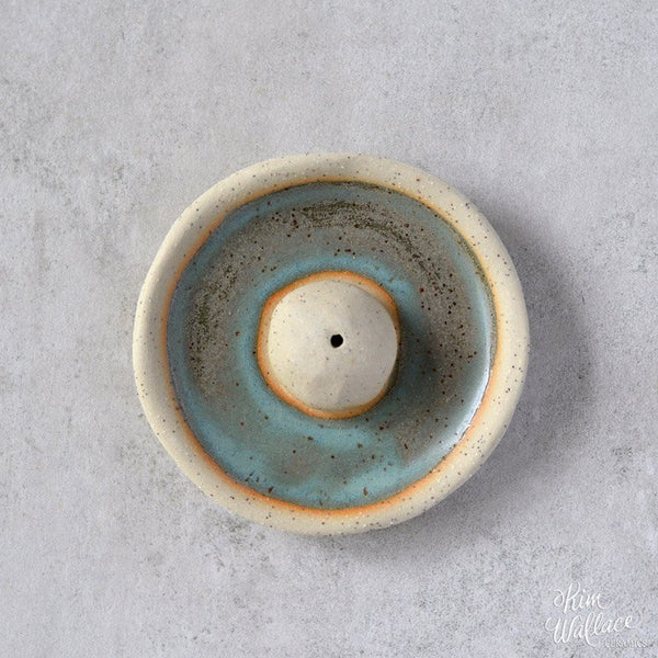 KIM WALLACE Incense Holder- Bluegum On Stone
